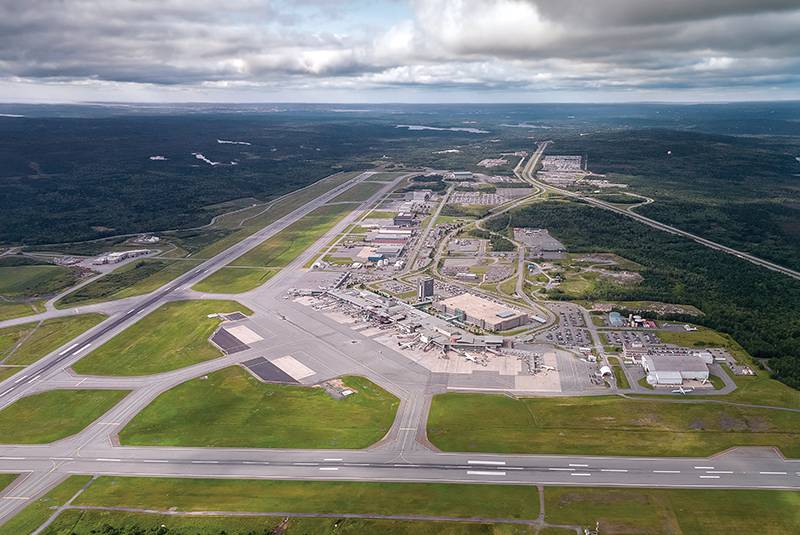 Aerial photo of Halifax Stanfield International Airport. Halifax Stanfield International Airport is a Canadian airport in Goffs, Nova Scotia, Canada, a rural community of the Halifax Regional Municipality. It serves the Halifax area, mainland Nova Scotia and adjacent areas in the neighbouring Maritime provinces